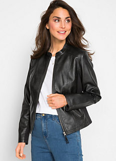 f750060fabc7d Cropped Faux Leather Jacket by bpc bonprix collection