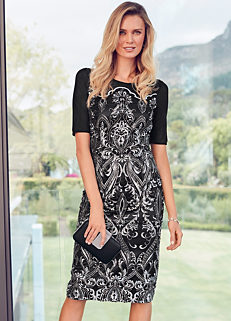 66aaed79d2f Embroidered   Sequin Shift Dress