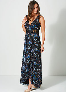 05a6caf13f9 Floral Print Maxi Dress by Little Mistress