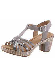 c0d2c82719 Leather Mix High Heel Sandals by Gabor
