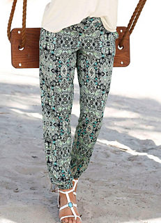 054c95fc92c3 Printed Beach Trousers by LASCANA