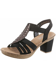 fa12f5c5148b Rhinestone Heeled Sandals by Rieker