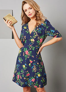 87a6ca4cf0 Verity Floral Wrap Dress by Warehouse. Verity Floral Wrap Dress by Warehouse.  Warehouse. £42.00 · Hidden Parrot Print Cami ...