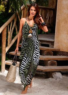 63c846805ef Look Again. £28.00. Zebra Print Beach Dress