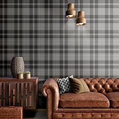 Catherine Lansfield floral Grey//Ochre Wallpaper