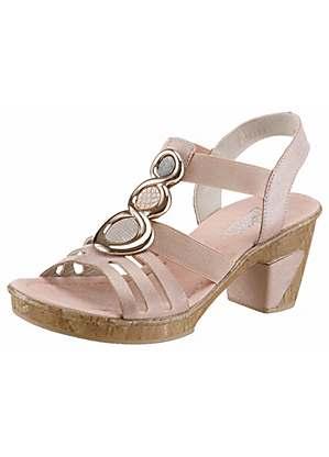 ce9a6d7c2 High Heel Jewelled Sandals by Rieker