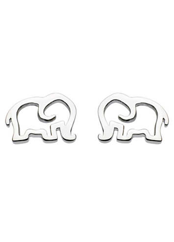 Dew Sterling Silver Elephant Stud Earrings g3rvcnsD