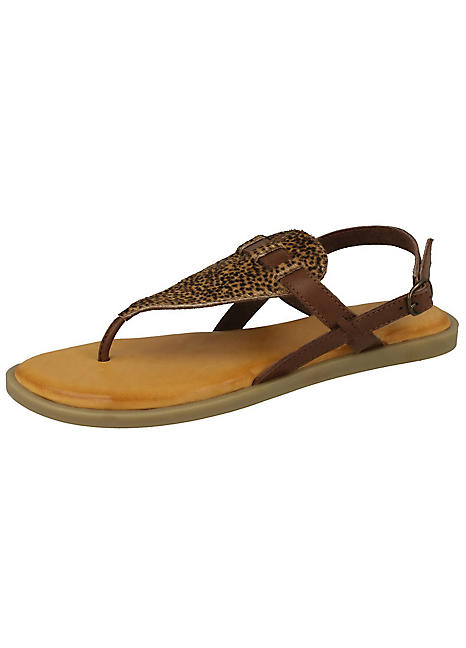 9c2c1393f291 Animal Print Toe Post Sandals | Look Again
