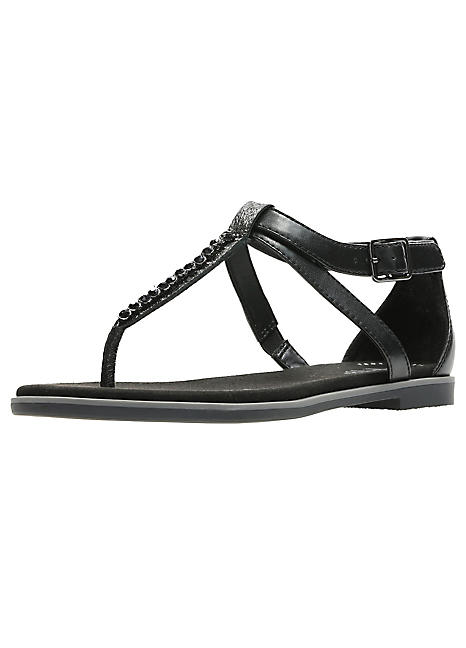 d18b0dc62b0d Bay Poppy Diamante Sandals by Clarks