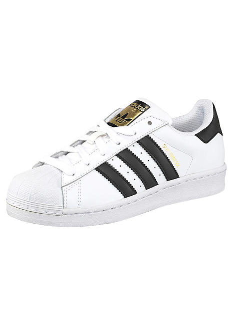 c64621d58d5 Boys White Superstar J Trainers by adidas Originals