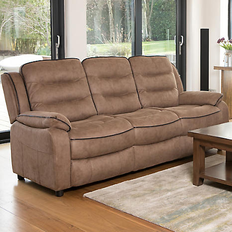 Brown Leather And Fabric Sofa Coffee Tables Ideas