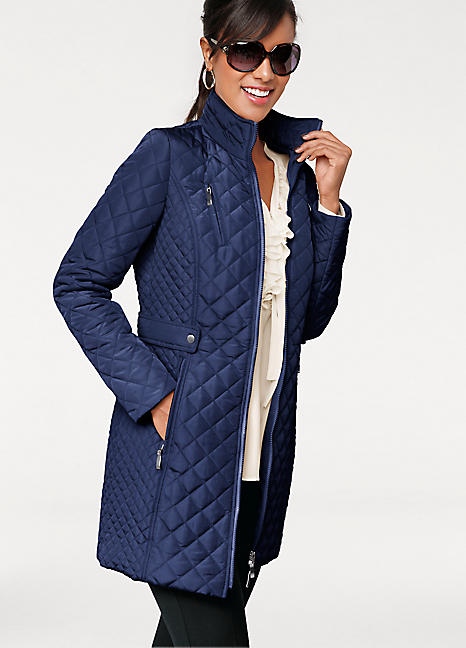 Longline Quilted Jacket By Heine Patrizia Dini Look Again