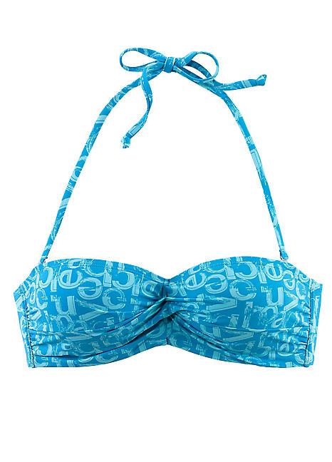 print bandeau bikini top by venice beach look again. Black Bedroom Furniture Sets. Home Design Ideas