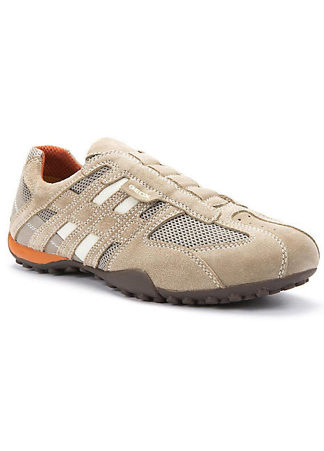Suede And Mesh Trainers by Geox   Look