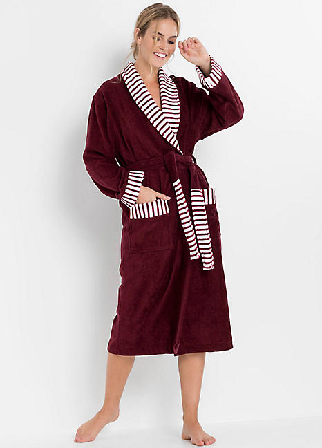Towelling Dressing Gown By Bpc Bonprix Collection Look Again