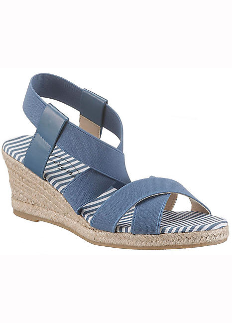 03ed32abf Wedge Heel Strappy Sandals by City Walk