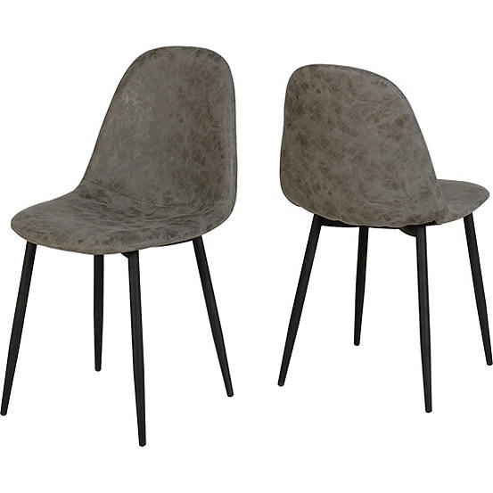 Awesome Athens Concrete Effect Top Table 4 Grey Faux Leather Dining Chairs Save 60 Buying As A Set Gamerscity Chair Design For Home Gamerscityorg