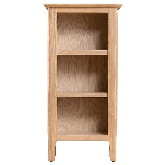 best cheap adbde 889d9 Bakken Oak 3 Shelf Low Narrow Bookcase