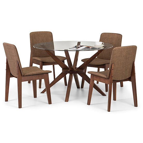 Chelsea Round Glass Table 4 Chairs Dining Set Look Again