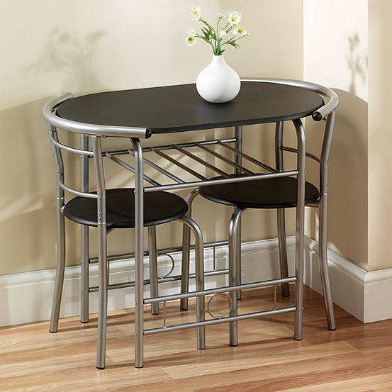 Compact Space Saving Table 2 Chairs Dining Set Look Again