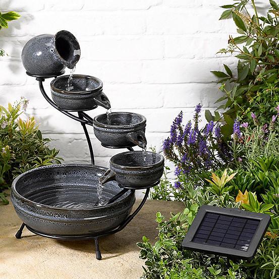 Solar Ed Ceramic Cascade Water