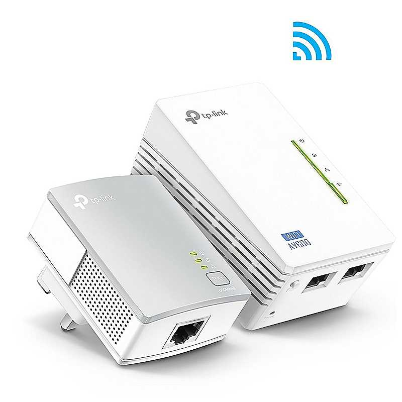 AV600 Powerline Adaptor with 300mbps Wi-Fi Extender Kit by TP Link