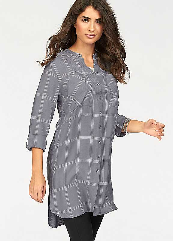 Checked Long Blouse by Boysen's