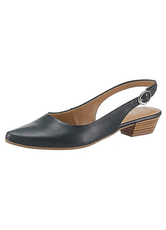 Leather Slingbacks by Tamaris.