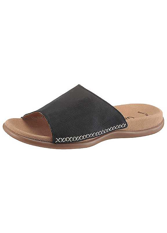 Slip-On Leather Mules by Gabor