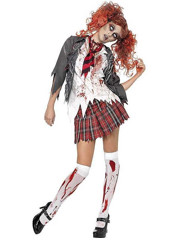 Zombie Schoolgirl Adult Fancy Dress Costume